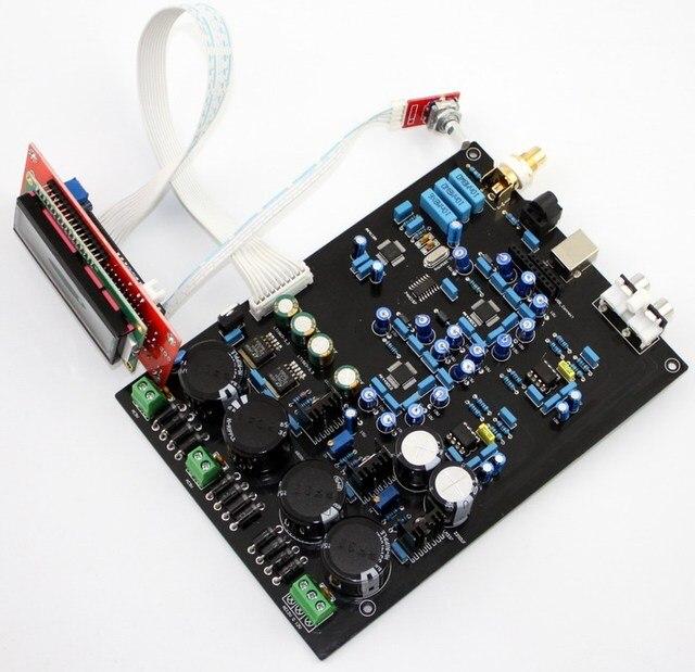 KYYSLB AK4490EQ Double And Soft Control Board Support DOP DSD Optical Fiber Coaxial USB Input DAC AUDIO Amplifier Board