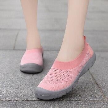 Zapatos planos informales para Mujer, Zapatillas sin cordones transpirables, ligeras, para enfermera
