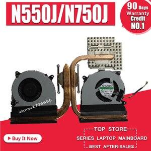 NEW CPU Original VENTILADOR de REFRIGERAÇÃO PARA ASUS N550 N550J N550JA N550JK N550JV N750 N750J N750JV N750JK G550J G550JK N550L Q550L Dissipador de Calor