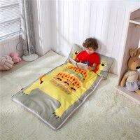Cartoon Baby Sleeping Bag Children's Travel Bed In Winter Pure Cotton Children's Anti kicking Quilt Removable Sleeping Bag