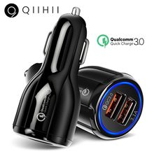 QIIHII Usb Car Charger Quick Charge 3.0 2.0 For iphone Samsung Xiaomi Huawei Fast Smartphone