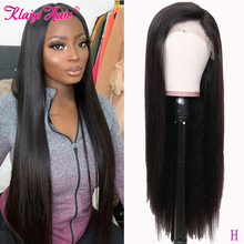 """Klaiyi Hair Straight Remy Hair Wigs 360 Half Lace Wigs Human Hair Wigs With Baby Hair Natural 12"""" 26""""inch 150%&180% Density"""
