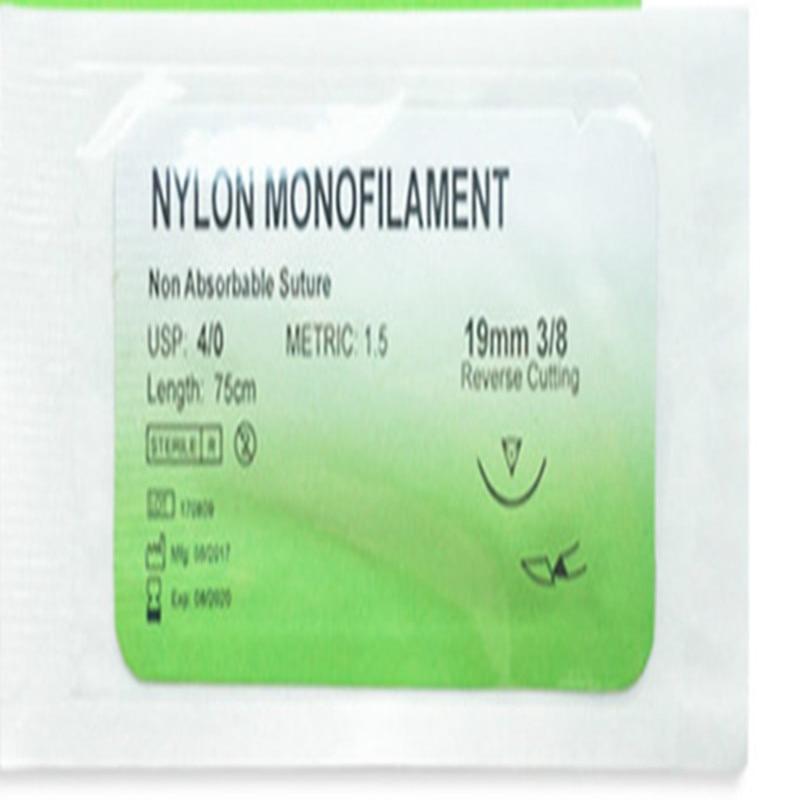 Medical Training Thread Suture  Nylon Monofilament Non-injured Sutures Surgical  Needle