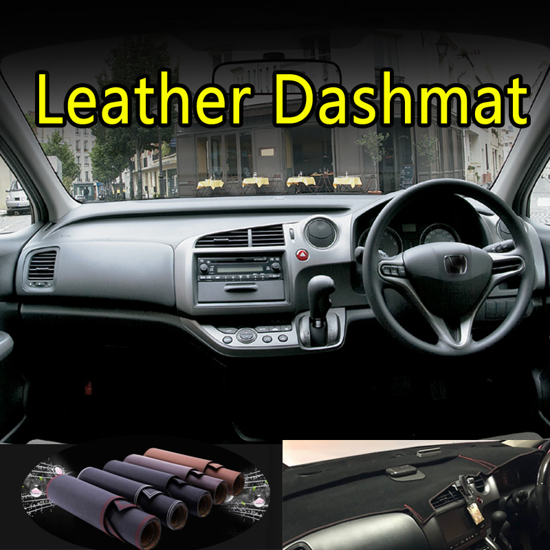For Honda STREAM G2 RST TS ZS RN6 RN7 RN8 RN9 2006 - 2014 Leather Dashmat Dashboard Cover Dash Mat Carpet Car Styling Accessorie
