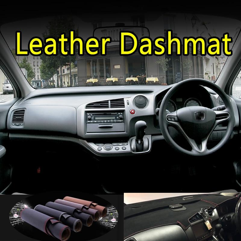 For Honda STREAM G2 RST TS ZS RN6 RN7 RN8 RN9 2006 - 2014 Leather Dashmat Dashboard Cover Dash Mat Carpet Car Styling Accessorie