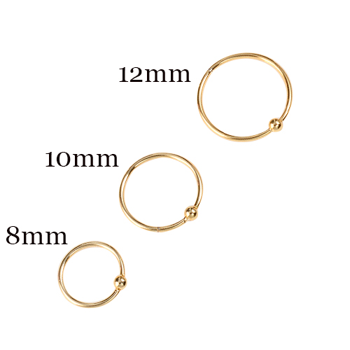 H984afdda885848b893ff4074d3ad475cs - 6 PCS/1 lot Stainless Steel Ball Black Hoop Earrings Circle Captive Bead Ring Ear Nose Nostril Septum Helix Cartilage Piercing
