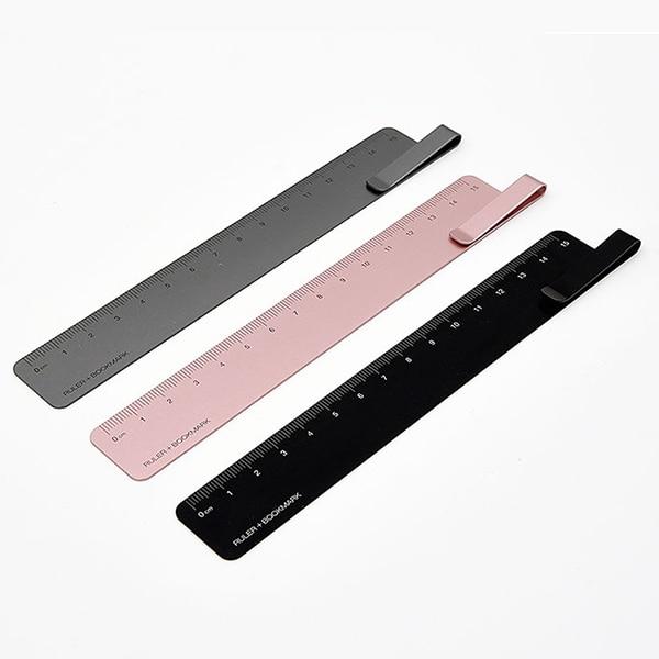 KACO Metal Aluminum RUMA Bookmark Ruler With Paper Clip