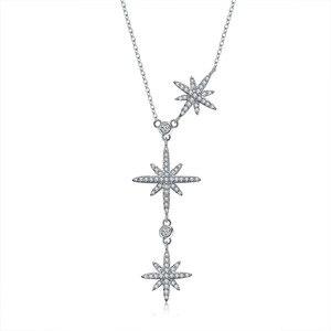 Image 1 - 2020 nova personalidade estrela colar cristais de swarovskis moda jóias é um zircão ajustável colar