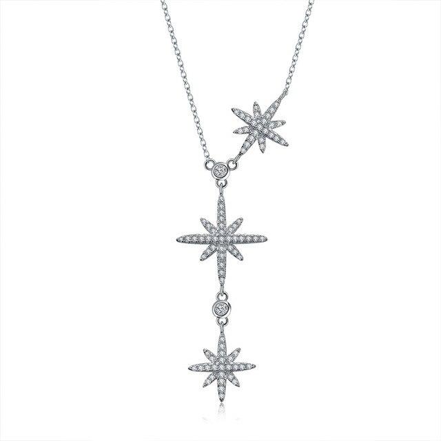 2020 nova personalidade estrela colar cristais de swarovskis moda jóias é um zircão ajustável colar
