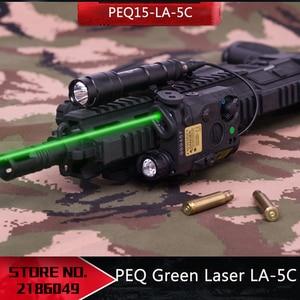 Image 1 - NEW Tactical Airsoft  Flashlight PEQ Green Laser LA 5C UHP IR Laser LED IR Laser LA5 softair tactical peq light Strobe