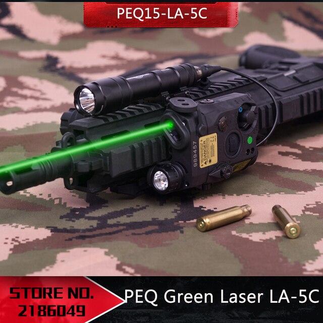 NEW Tactical Airsoft  Flashlight PEQ Green Laser LA 5C UHP IR Laser LED IR Laser LA5 softair tactical peq light Strobe