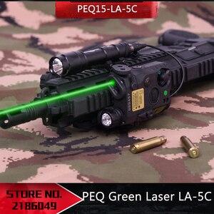 Image 1 - 新戦術エアガン懐中電灯peqグリーンレーザーLA 5C uhp irレーザーled irレーザーLA5 softair戦術peqライトストロボ