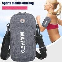 Cinturón de deporte correr pulsera para hombre y mujer, funda con cremallera, BILLETERA, bolsillo para teléfono, al aire libre, gimnasio, Fitness