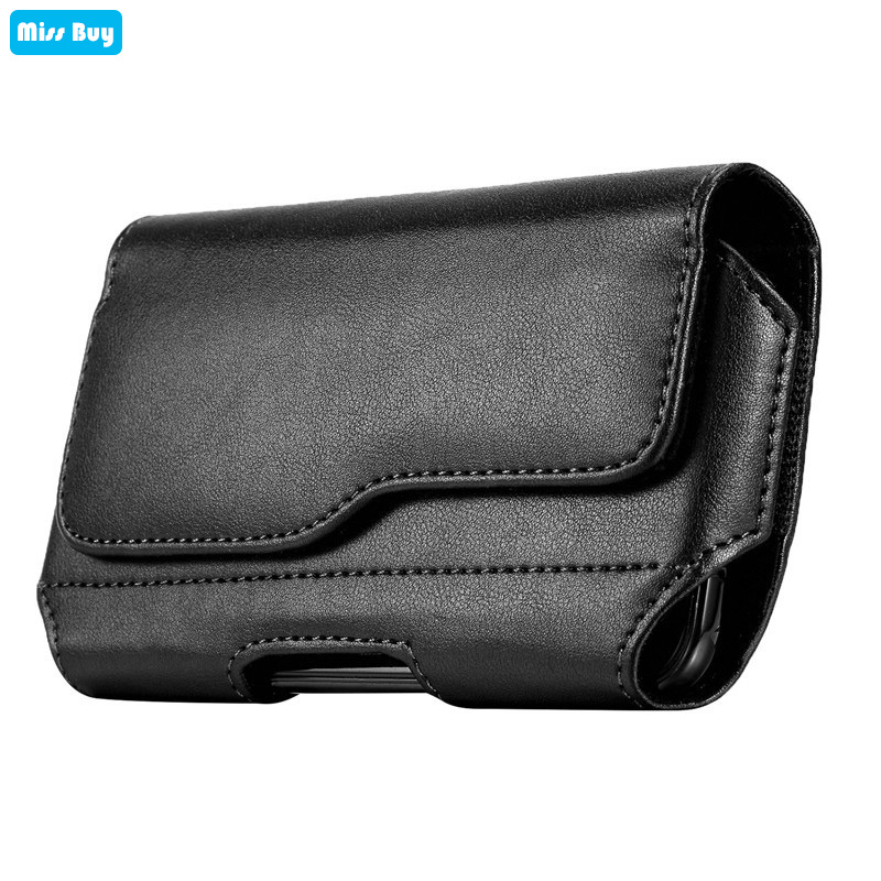 Mobile Phone Pouch Bag For <font><b>iPhone</b></font> 4 4s 5 5s se 6 6s 7 8 Plus X XS Max <font><b>XR</b></font> 11 Pro Max <font><b>Case</b></font> Leather Cover Flip Waist Holster <font><b>Belt</b></font> image