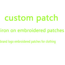 Patch brodé personnalisé fer sur patchs pour vêtements marque logo patch parches autocollants pour vêtements rayures marque patch applique