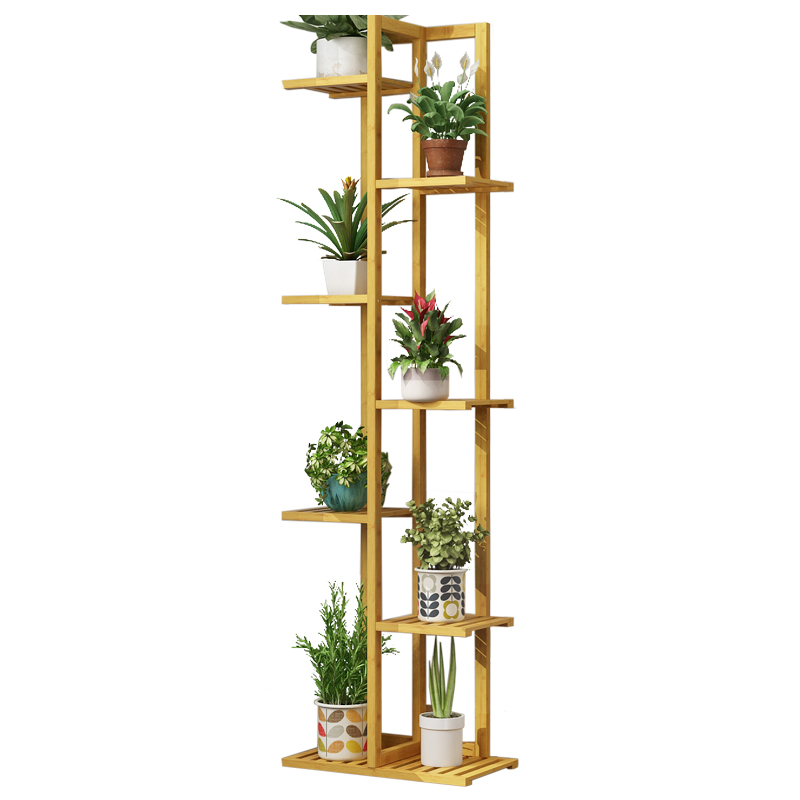 Flower Shelf Multi-storey Indoor Special Balcony Green Porridge Solid Wood Living Room Floor-mounted Multi-meat Shelf