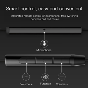 Image 5 - Baseus 6D Stereo In ear Earphone Headphones Wired Control Bass Sound Earbuds for 3.5mm Earphones