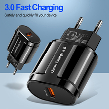 Lovebay Quick Charge 3.0 USB Charger EU US 5V 3A Fast Charging Mobile
