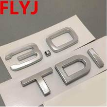Chrom srebrny ABS 1.9 TDI 2.0 TDI 2.7 TDI A4 A6 A8 Q3 Q5 Q7 karoseria naklejka z logo na bagażnik naklejana etykieta Turbo wtrysk bezpośredni znak