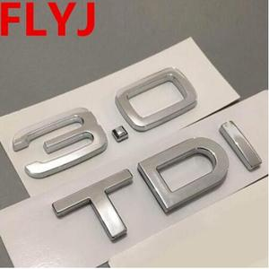Chrome Silver ABS 1.9 TDI 2.0 TDI 2.7 TDI A4 A6 A8 Q3 Q5 Q7 Car Body Rear Trunk Emblem Badge Sticker Turbo Direct Injection Sign