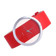 Simple Dial Quartz Watch Fashion Transparent Hollow Luxury Women Gifts for Casual Belt