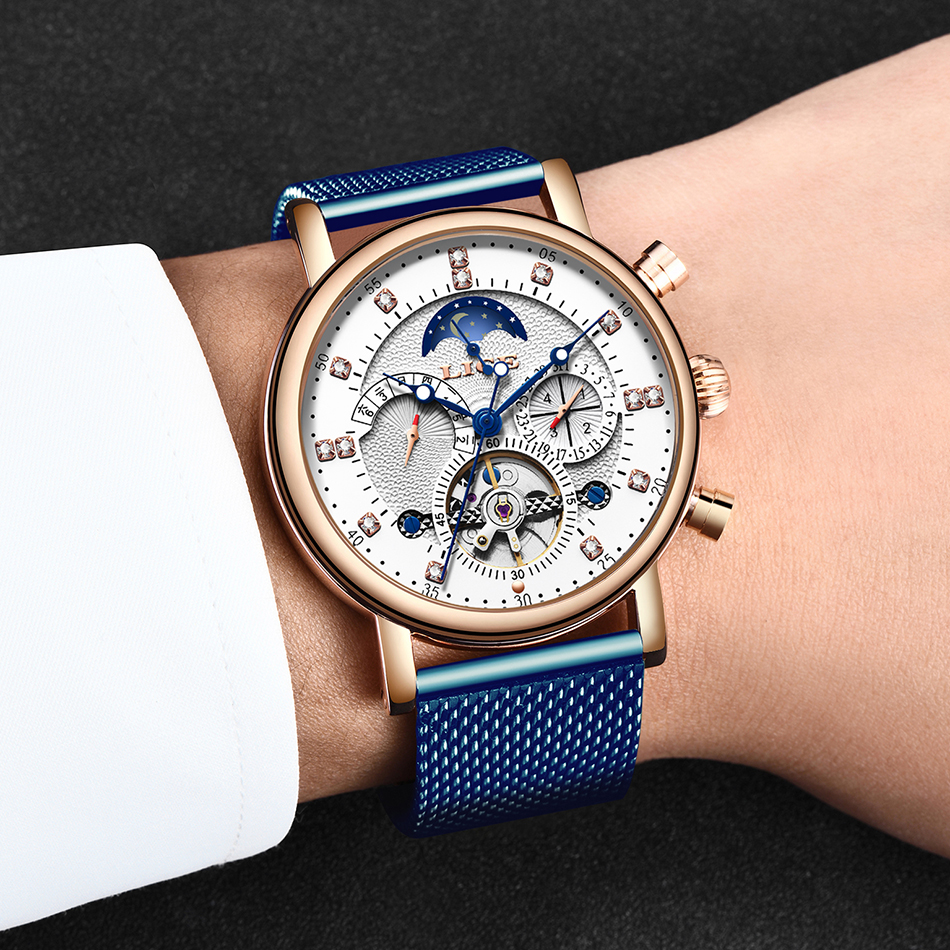 H984ba720668443a28862fe0dddc37fd6r LIGE Gift Mens Watches Brand Luxury Fashion Tourbillon Automatic Mechanical Watch Men Stainless Steel watch Relogio Masculino