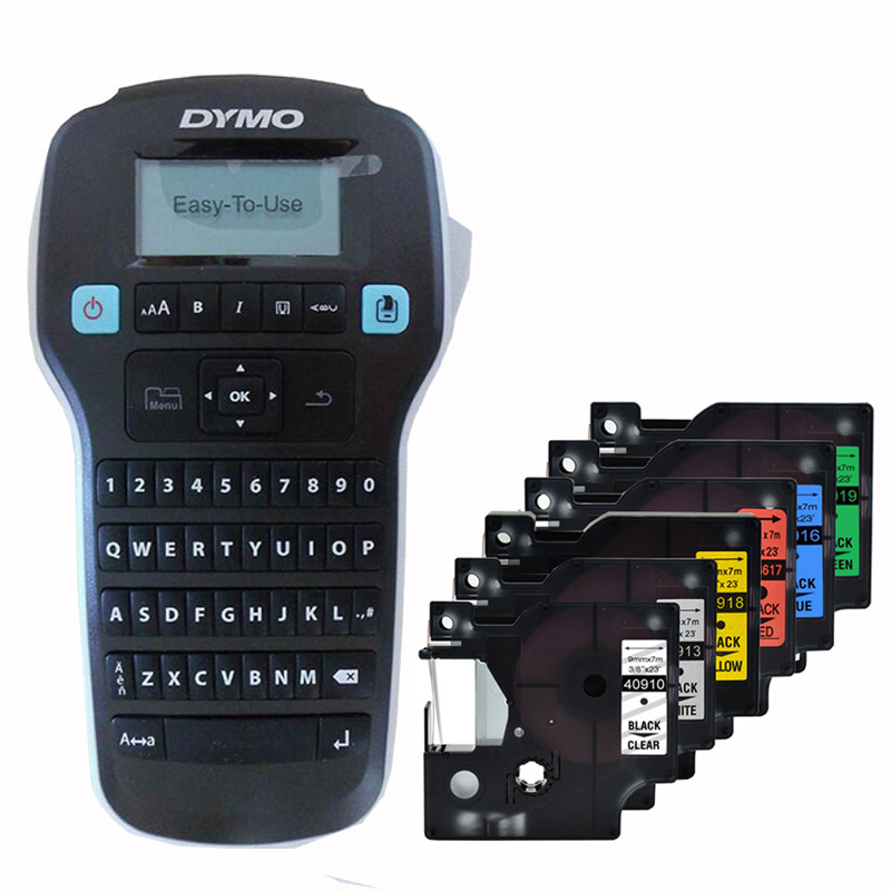 Dymo LM160 Label Printers For Dymo D1 6/9/12mm Label Ribbon Cassette Plus 40910 40913 40916 40917 40918 40919 Lable Ribbons
