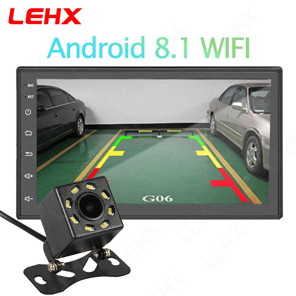 7 pulgadas Android 8,1 2 Din auto radio Multimedia reproductor Universal estéreo para coche Gps navegación Bluetooth reproductor de vídeo trasera Cam
