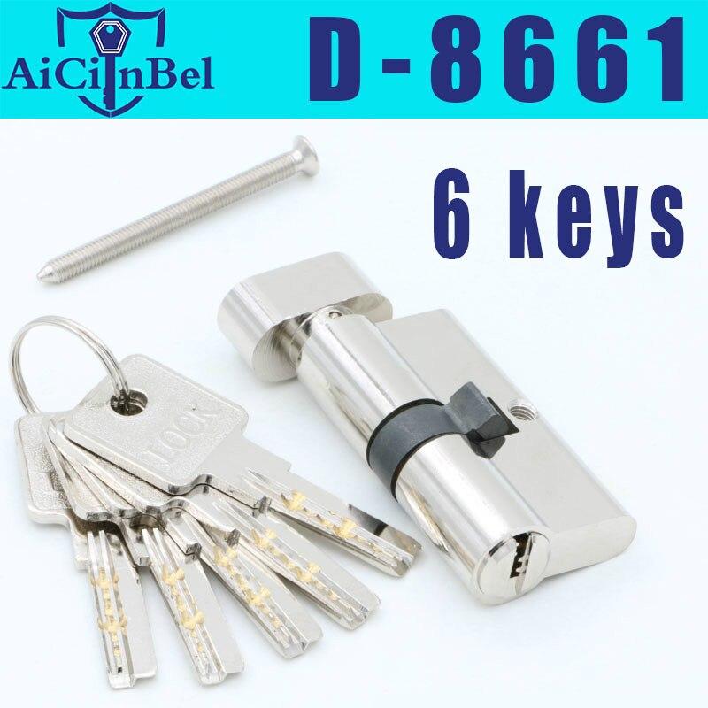 European standard Door cylinder Security Copper Lock Cylinder Interior Bedroom Living Security door Handle Brass Key Locking|Door Locks| |  - title=