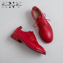 British Style Oxford Shoes Woman Flats Spring Soft Cow Leath