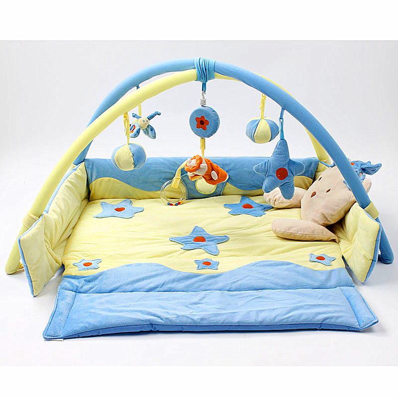 Playmat Baby Activity Gym  Game Blanket Princess Baby Activity Play Mat Crawling Game Pad Mobile Cot Toys Bundle Bracket Bedding