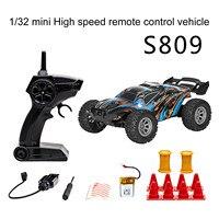 S809 Rc coche de deriva 2,4g Mini 1/32 de alta velocidad del coche con 10 Uds bloqueo conjunto niños coche de Control remoto juguete para regalo Dual de la batería