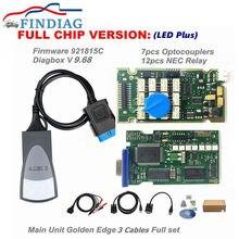 Lexia 3 pp2000 atualização completa chip firmware 921815c obdii leitor de código ferramenta diagnóstico scanner diagbox v9.68 para citroen para peugeot