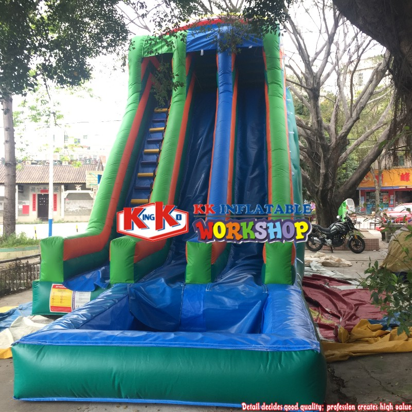 Commercial inflatable <font><b>water</b></font> slide with pool <font><b>for</b></font> adult / <font><b>children</b></font> <font><b>water</b></font> park slide <font><b>toys</b></font> image