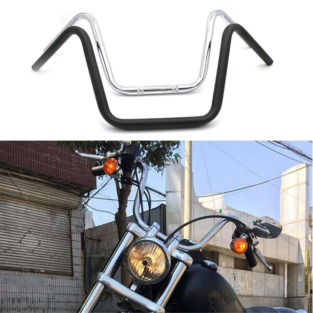 25mm motocicleta guiador super alto para xl883 xl1200 x48 dyna softail retro moto scooter cruiser bobber clássico lidar com barra
