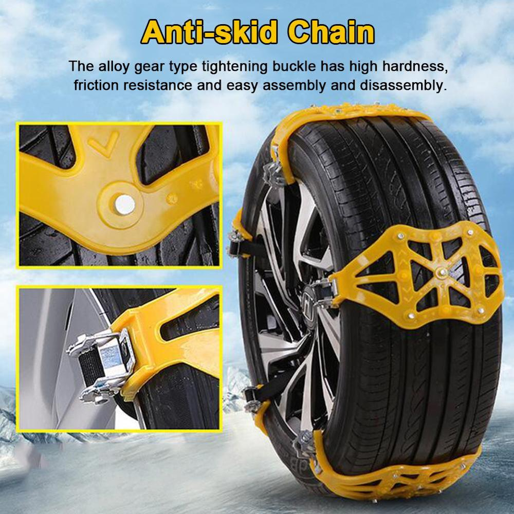 2019 New Car Tyre Winter Roadway Safety Tire Snow Thickened Adjustable Anti-skid Safety Double Snap Skid Wheel TPU Chains