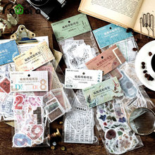 50pcs/lot Vintage Ephemera Pack DIY Scrapbooking Paper Card Stock Note Stickers Decorative Craft Paper for Scrapbooks, Notobooks(China)