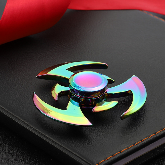 New Fidget Hand Spinners Zinc Alloy Metal Rainbow Spiner Anti-Anxiety Toy of Spinners Focus Relieves Stress Finger Spinner