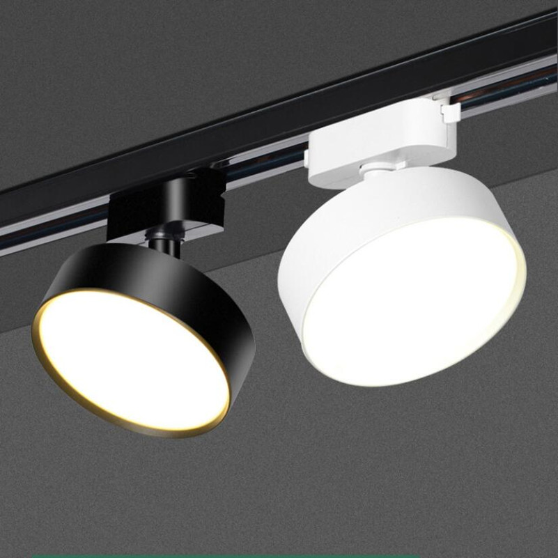 2 Wires 3 Wires 4 Wires 10W 15W 20W LED Track Light LED Ceiling Lamp Spotlight Indoor Home Commerical Lighting 1 Phase 3 Phase