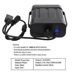 Image 2 - 2X 2X 18650 26650 8.4v充電式バッテリーケースパック防水ハウスカバーバッテリー収納dc/usb充電器バイク