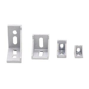 5pcs 2020 2028 Corner Fitting Angle Aluminum Connector 4590 4040 Bracket Fastener 2040 3030 6060 8080 Industrial Corner Bracket
