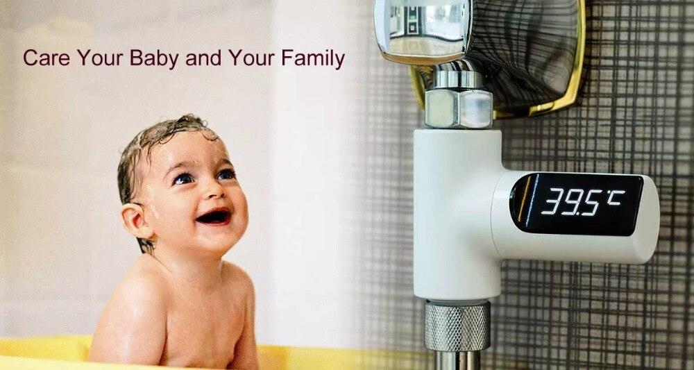 Display led casa chuveiro de água termômetro