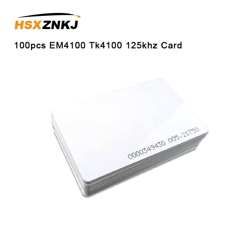 100pcs EM4100 Tk4100 125khz 0.85mm Thin Cards Access Control Card Keyfob RFID Tags Sticker Key Fob Token Ring Proximity Chip