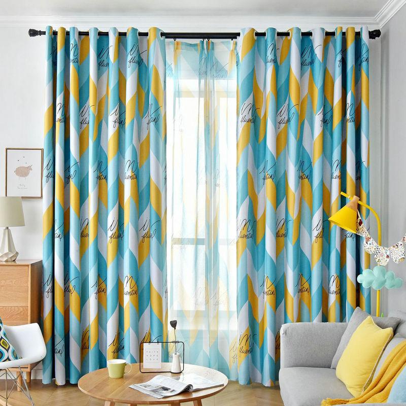 Red Yellow Blue Geometric Curtains For Livingroom Dining Room Blackout Drapes Cortinas Para Sala De Estar Rideaux Tende Curtains Aliexpress