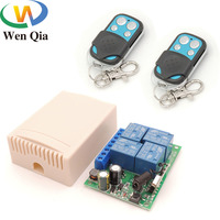 Interruptor de Control remoto rf, controlador receptor de Relé inalámbrico para garaje/puerta/LED/bombilla, AC 85V ~ 220V, 10 amperios, 2200W, 4 canales, 433MHz
