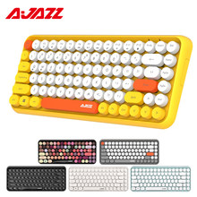 Ajazz 308i teclado inalámbrico Bluetooth 84 redondo clásico llaves inalámbrico teclado de juego para Windows Mac Android iOS Multimedia clave