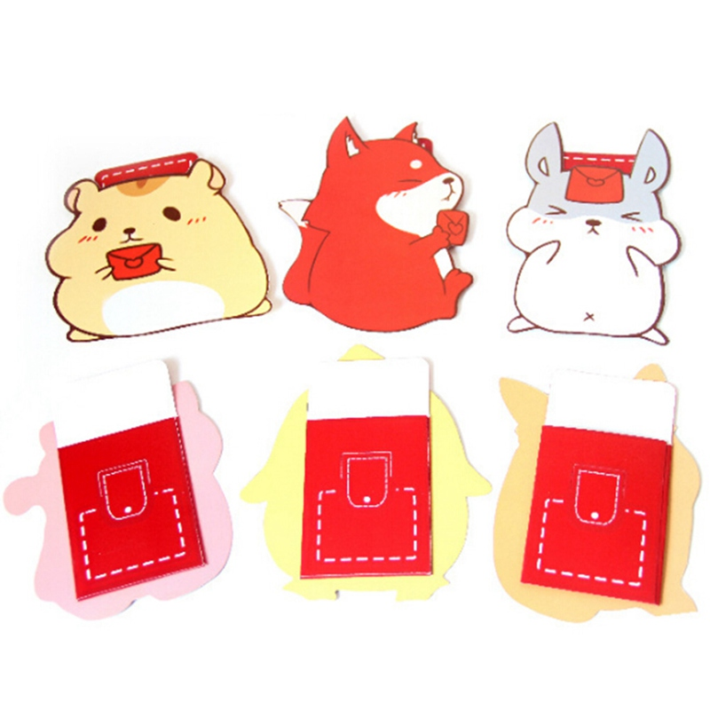 5Pcs/pack Hot Stamping Prosperous Dog Design Red Packet New Year Wedding Red Envelope Birthday Gift Envelope Storage Escolar