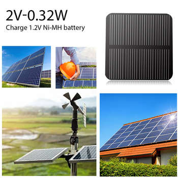 160mA Mini Solar Cell DIY Solar Panel Household Outdoor Solar Power 0.32W 2V Module Charger Decor for 1.2V Battery Phone image