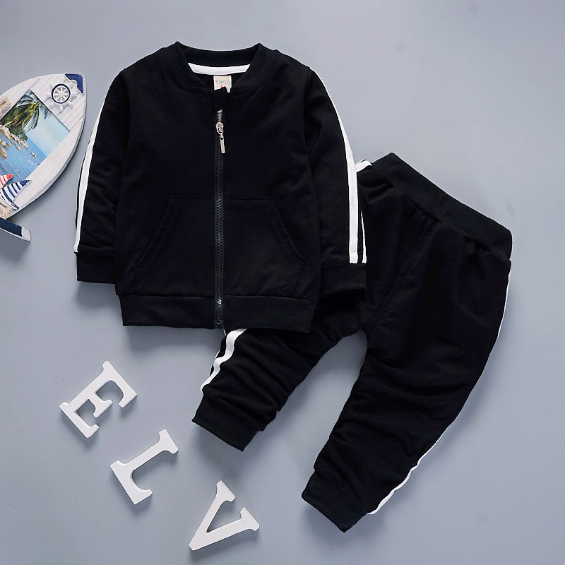 Baby Boy Clothes 18-24 Months Long Sleeve With Zipper Jacket + Pants 2PCS Infant Clothing Kids Bebes Jogging Suits Tracksuits