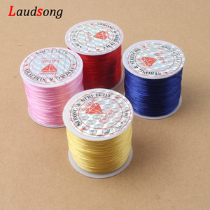 50M/Roll 0.6mm Elastic Crystal Line Rope Rubber Stretchy Cord For Jewelry Making Beading Bracelet Flexible Wire Thread Rope